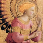 ANGELICO, Fra, Archangel Gabriel Annunciate, 1431-33, Tempera and gold on panel, 31 x 26 cm, Institute of Arts, Detroit