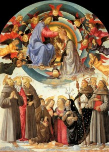 GHIRLANDAIO, Domenico, Coronation of the Virgin, 1486, Tempera on wood, Pinacoteca Comunale, Citta di Castello