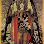 HUGUET, Jaume, The Archangel St Michael, 1456, Tempera on panel, 213 x 136 cm, Museu Nacional d'Art de Catalunya, Barcelona