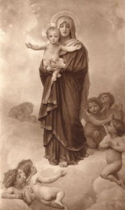 BOUGUEREAU, William-Adolphe, Our Lady of the Angels, 1889, Oil on Canvas, Private Collection