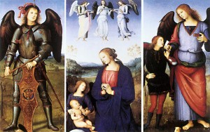 PERUGINO, Pietro, Polyptych of Certosa di Pavia (details), c. 1499, Oil and tempera on poplar panel, National Gallery, London