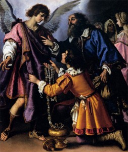 BILIVERT, Giovanni, The Archangel Raphael Refusing Tobias's Gift. 1612, Oil on canvas, 175 x 146 cm, Galleria Palatina (Palazzo Pitti), Florence