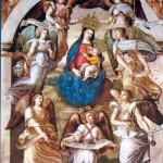 Our Lady of the Angels with the Seven Archangels, Fresco in the Basilica di Santa Maria degli Angeli, Rome