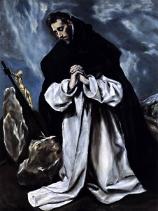 GRECO, El, St Dominic in Prayer, 1586-90, Oil on canvas, 118 x 86 cm, Private collection