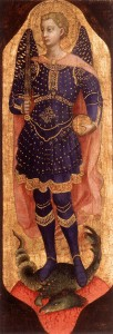 ANGELICO, Fra, St Michael, 1423-24, Tempera on wood, Private collection