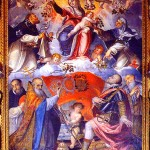 COSSALI, Grazio, Pope Pius V Credits Our Lady of the Rosary with the Victory at the Battle of Lepanto