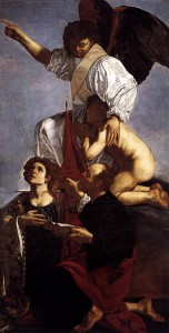 Guardian Angel with Sts. Ursula and Thomas, Caravaggio, Museo del Prado
