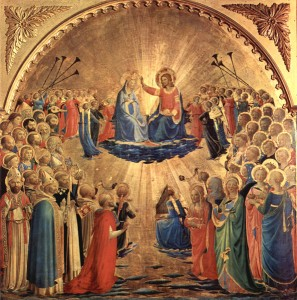 ANGELICO, Fra, Coronation of the Virgin 2, 1434, Galleria degli Uffizi, Florence